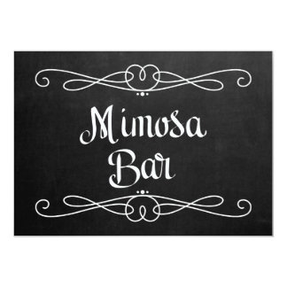 """Muestra del boda barra del Mimosa"""" del estilo de Invitación 5"""" X 7"""""""