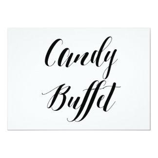 """Muestra del boda comida fría del caramelo"""" del invitación 5"""" x 7"""""""