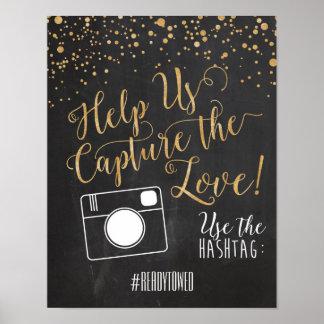 Muestra del boda de Hashtag Póster