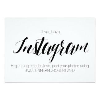 """Muestra del boda de """"Instagram Hashtag"""" del estilo Invitación 5"""" X 7"""""""