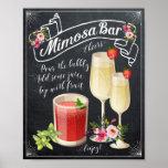 Muestra del boda de la barra del Mimosa Póster