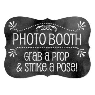 """Muestra del boda de la pizarra: Cabina de la foto Invitación 5"""" X 7"""""""