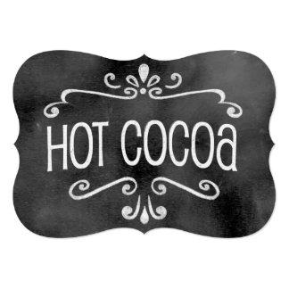 """Muestra del boda de la pizarra: Cacao caliente Invitación 5"""" X 7"""""""