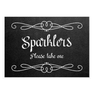 """Muestra del boda de la pizarra de los """"Sparklers"""" Invitación 5"""" X 7"""""""