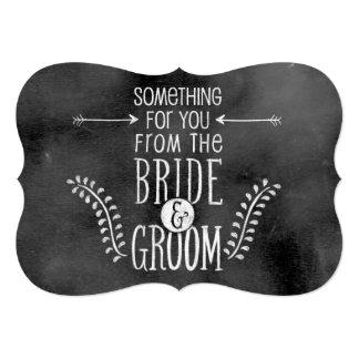 Muestra del boda de la pizarra: Favor o tarjeta de Invitación 12,7 X 17,8 Cm