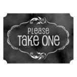 Muestra del boda de la pizarra: Tome por favor uno Invitacion Personal