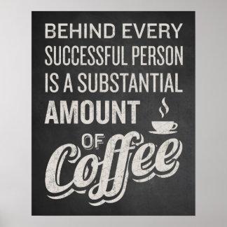 Muestra del café. Decoración del café. El decir Póster