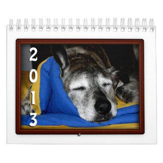 Muestra del calendario del marco de la foto