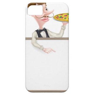 Muestra del camarero de la pizza funda para iPhone SE/5/5s