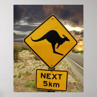 Muestra del canguro, Australia Poster