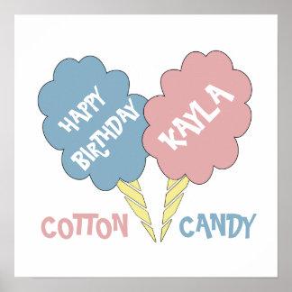 Muestra del caramelo de algodón del feliz póster