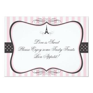 """Muestra del caramelo de París de la torre Eiffel Invitación 5"""" X 7"""""""