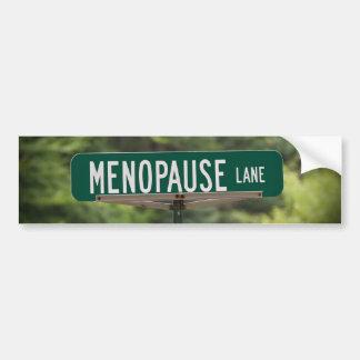 Muestra del carril de la menopausia para una buena pegatina para auto