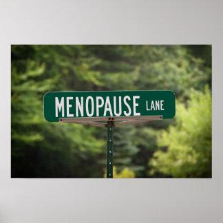 Muestra del carril de la menopausia para una buena póster