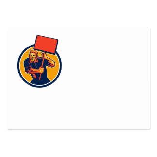 Muestra del cartel del trabajador de unión del act tarjetas de negocios