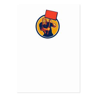 Muestra del cartel del trabajador de unión del act plantilla de tarjeta de negocio