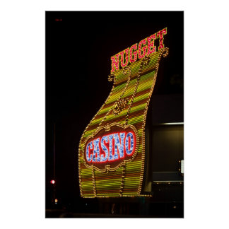 Muestra del casino de la pepita póster