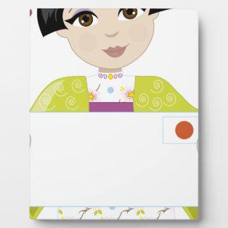 Muestra del chica de Japón Placas De Plastico