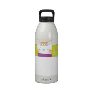 Muestra del chica de Japón Botella De Agua Reutilizable