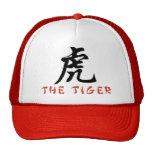 Muestra del chino del tigre gorra