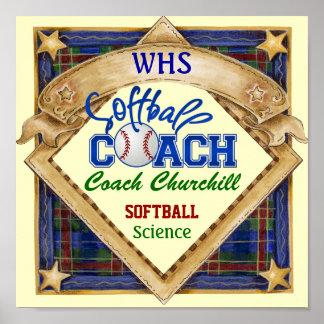 Muestra del coche del softball del profesor - post