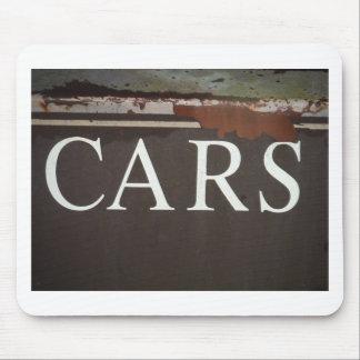 Muestra del coche del vintage de la grúa de los mouse pad
