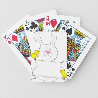 Muestra del conejito baraja cartas de poker