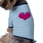 muestra del corazón camisetas mascota