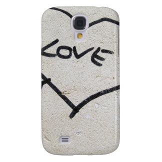 Muestra del corazón del amor funda para samsung galaxy s4