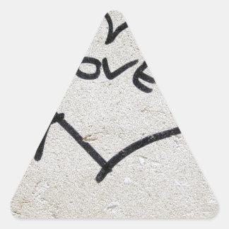 Muestra del corazón del amor colcomanias de trianguladas
