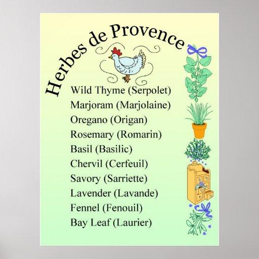 Muestra del de Provence de las hierbas Póster
