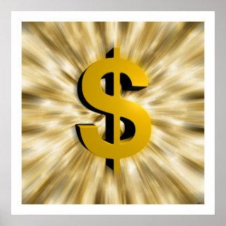 Muestra del dinero póster