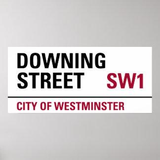 Muestra del Downing Street Póster