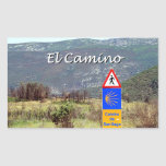 Muestra del EL Camino de Santiago (subtítulo) Pegatina Rectangular