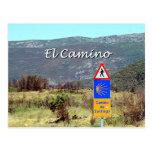 Muestra del EL Camino de Santiago (subtítulo) Tarjeta Postal