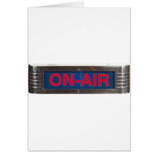 Muestra del En-Aire o difusión antigua del En--Air Tarjeta De Felicitación