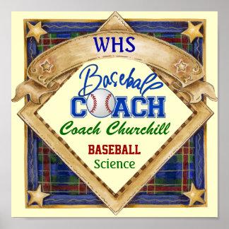 Muestra del entrenador de béisbol del profesor - p