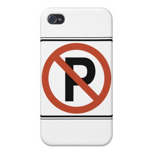 Muestra del estacionamiento prohibido iPhone 4 fundas