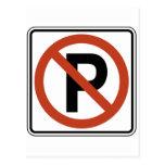 Muestra del estacionamiento prohibido tarjetas postales