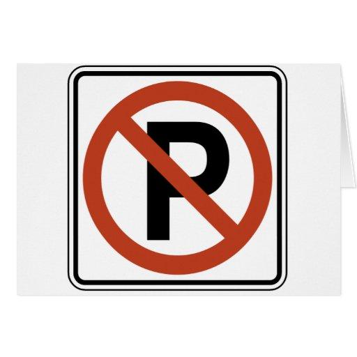 Muestra del estacionamiento prohibido tarjetón