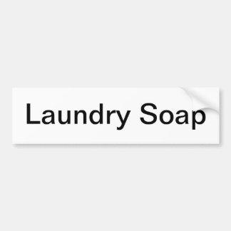 Muestra del estante del jabón de lavadero etiqueta de parachoque