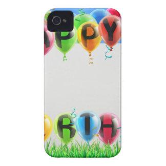 Muestra del feliz cumpleaños Case-Mate iPhone 4 carcasa