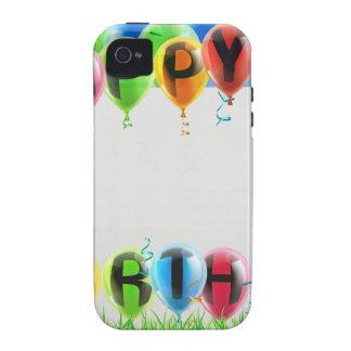 Muestra del feliz cumpleaños vibe iPhone 4 carcasas