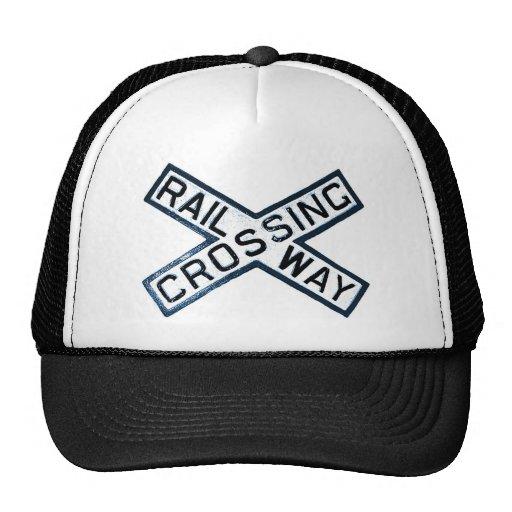 Muestra del ferrocarril gorras de camionero