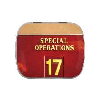 muestra del firetruck 17 de las operaciones frascos de dulces
