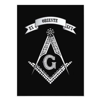 """Muestra del Freemasonry Invitación 5.5"""" X 7.5"""""""