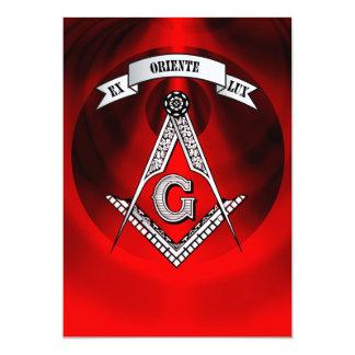 """Muestra del Freemasonry Invitación 5"""" X 7"""""""