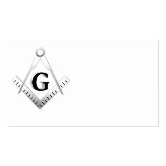 Muestra del Freemasonry Plantillas De Tarjetas Personales