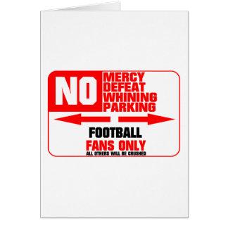 Muestra del fútbol del estacionamiento prohibido tarjeta de felicitación