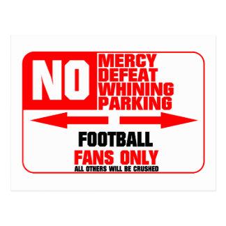 Muestra del fútbol del estacionamiento prohibido tarjetas postales